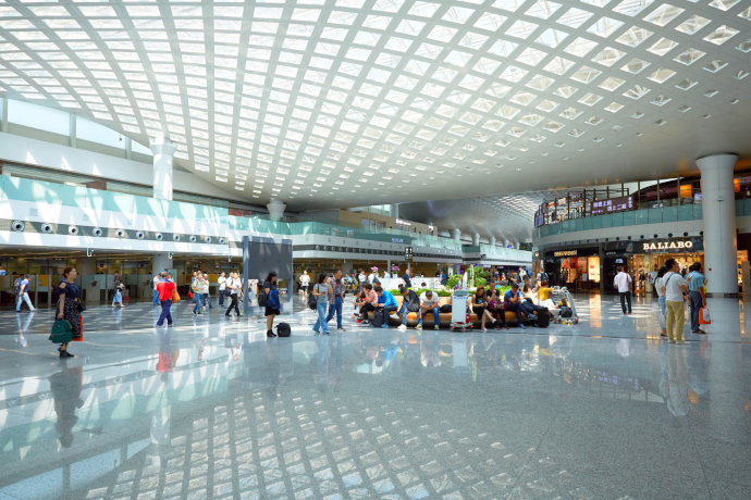 Hangzhou Airport has three passenger terminals.